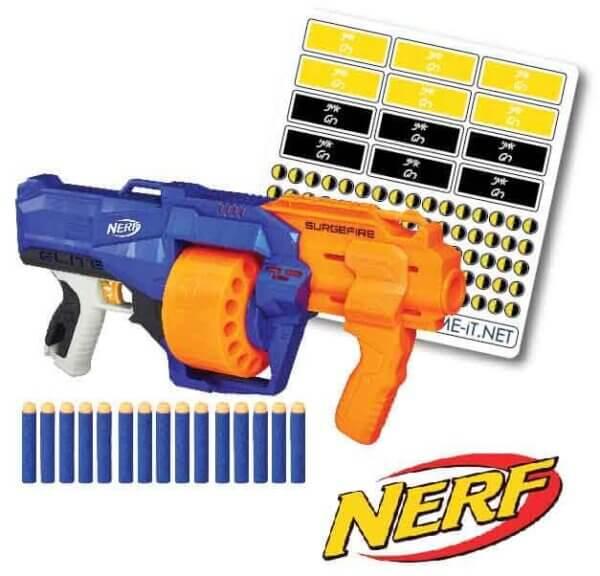 מדבקות לסימון NERF- נרף