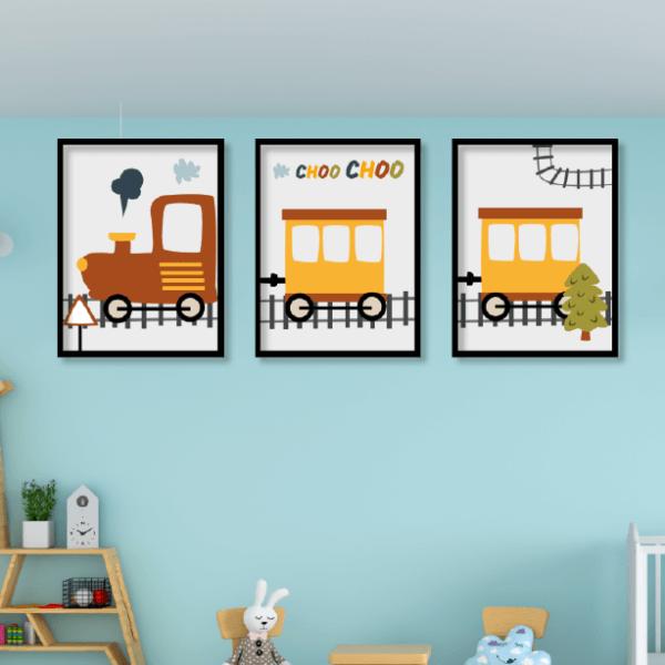 תמונות ממסוסגרות לחדרי ילדים