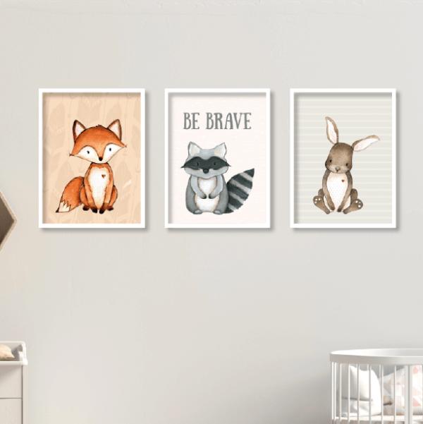 תמונות ממוסגרות לחדרי ילדים