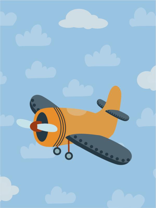 מטוס רקע תכלת