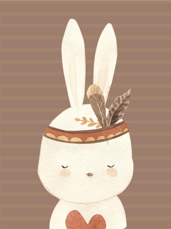 בוהו קשת עם חיות - ארנב