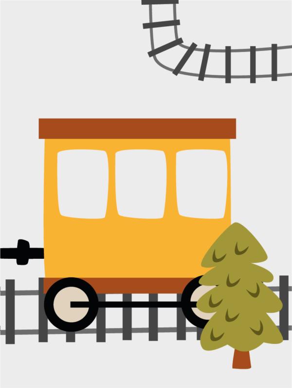 תמונה ממוסגרת רכבת 1
